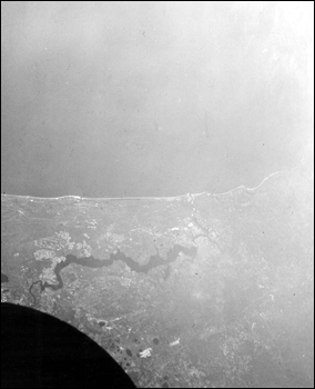 View of the Saint Johns River from orbit (1966)
