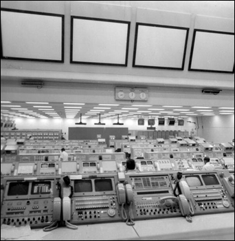 Computers and employees at the Kennedy Space Center: Cape Canaveral, Florida (1972)