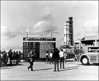 Tourists view the launch pad: Cape Canaveral Florida (1972)