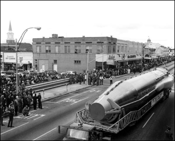 Air Force Space Museum parade float in Governor Kirk's inaugural parade: Tallahassee, Florida (1967)