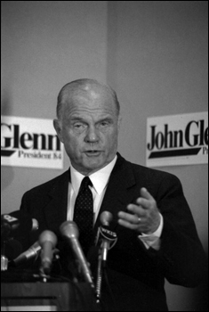John Glenn, Presidential candidate and former astronaut: Tallahassee, Florida (1984)