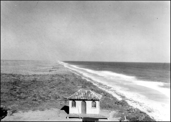 Looking north from the casino: Canova Beach, Brevard County, Florida (1929)