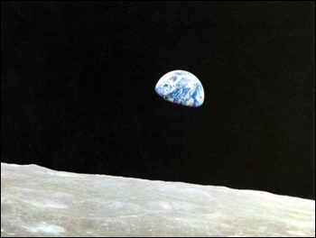 Apollo 8 Earth view (1968)