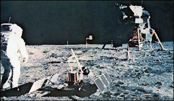 Tranquility Base on the lunar surface (1969)