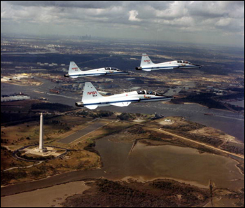 Flight for the Challenger Seven memorial services (1986)