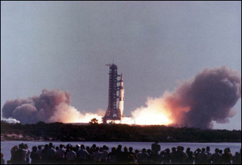 Apollo 11 takeoff (1969)