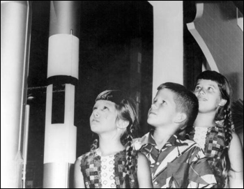 Children enjoying Aerospace Industry exhibit (ca. 1960)
