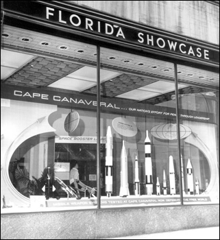 Window display of space exhibit (ca. 1960)