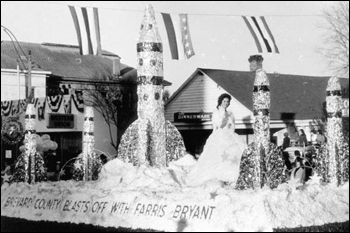 Parade float from Brevard county in Florida Governor Bryant's inaugural parade (1961)
