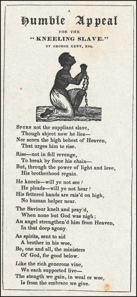 "Humble appeal for the ""kneeling slave"" (ca. 1850)"