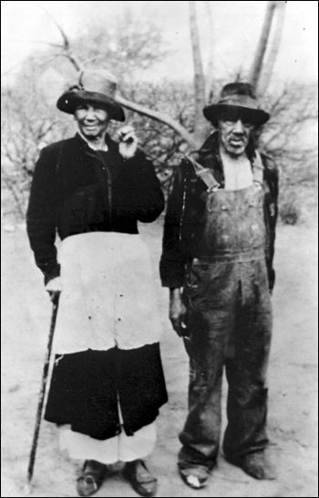 Luvenia and Ed Austin, sharecroppers on the Welaunee Plantation: Leon County, Florida (ca. 1940s)