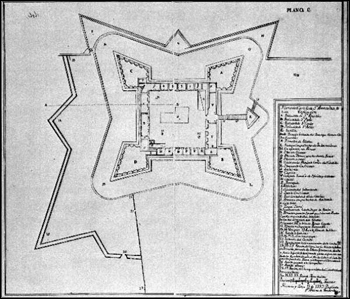 Plan of the Castillo de San Marcos (1737)