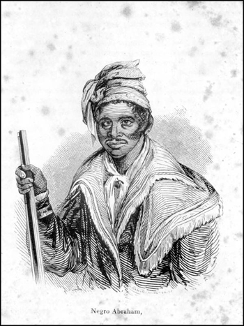 Abraham, former slave and intrepreter for Micanopy during the Seminole Wars (ca. 1840)