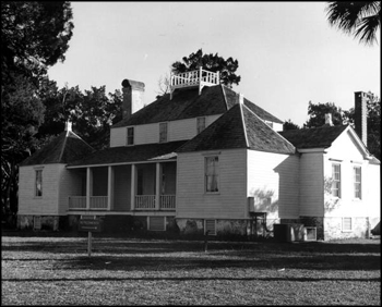 Main house at the Kingsley Plantation State Historic Site: Fort George Island, Florida (mid 20th century)