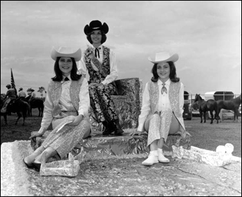 Unidentified cowgirls: Kissimmee, Florida (1966)