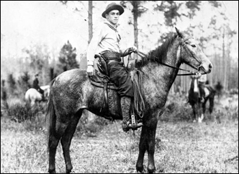 Cowboy at an open range roundup near Fort McCoy: Florida (c. 1910)