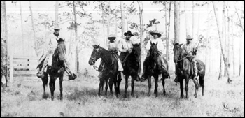 Cowboys on Mr. Burt's Spring Garden Ranch: De Leon Springs, Florida (1917)