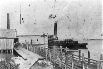 Steamship at wharf: Punta Rassa, Florida (189-)