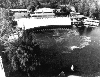 Bird's eye view of Weeki Wachee Springs amusement park (1969)