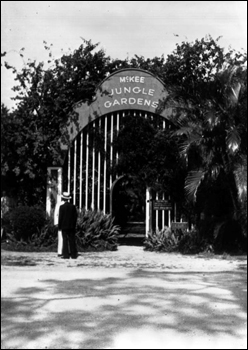 Entrance gate to the McKee Jungle Gardens: Vero Beach, Florida picture (193-)