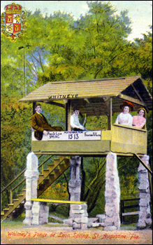 Whitney's Ponce de Leon Spring: Saint Augustine, Florida (postmarked 1917)