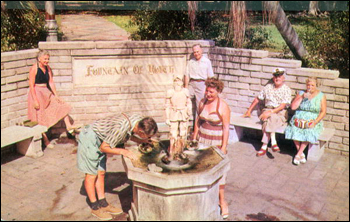 &quot;Fountain of Youth&quot; in Waterfront Park: Saint Petersburg, Florida (19--)