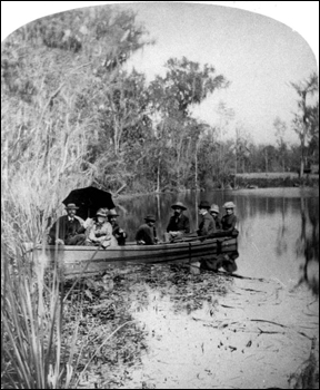 Party in rowboat at Silver Springs: Ocala, Florida (18--?)