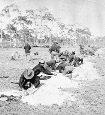 Skirmish line entrenchment (1898)
