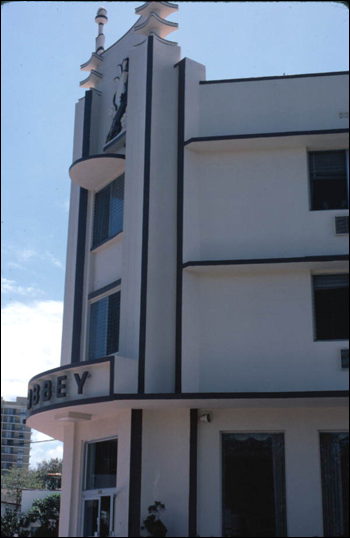 Example of South Florida art deco architecture (ca. 1978)