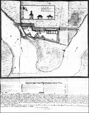 Plan of Fort San Marcos de Apalache: St. Marks, Florida (1791)