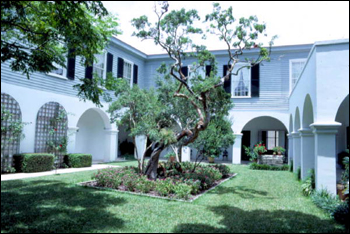 Courtyard at the Peck House: Saint Augustine, Florida (1982)