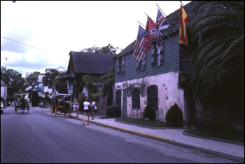 Street scene in front of the Oldest House: Saint Augustine, Florida (1982)