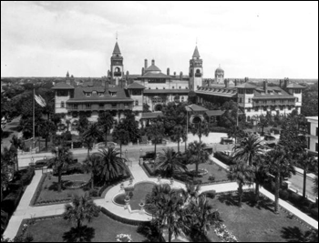 Ponce de Leon hotel as seen from the Alcazar: Saint Augustine, Florida (ca. 191_)