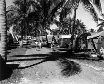 View of Hollywood Beach Trailer Park: Hollywood, Florida (1953)