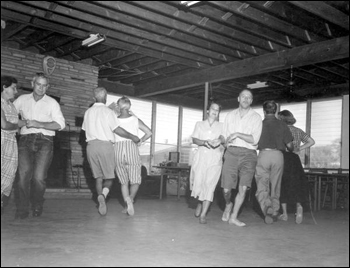 Square dancers at the trailer park: Sarasota, Florida (1957)