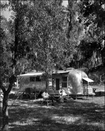 Mr and Mrs. Herbert Smith camp at Apalachicola National Forest: Leon County, Florida (1961)