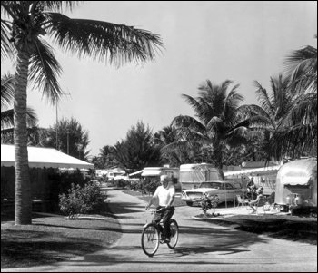 View of the Briny Breezes Trailer Park: Delray Beach, Florida (1963)