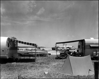 Campsites at Knights Key Park Campground: Marathon, Florida (1965)