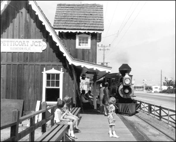 Petticoat Junction railroad station: Panama City Beach, Florida (1967)
