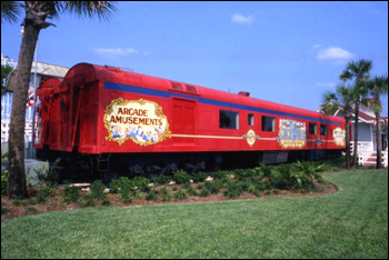 Circus World antique railway car: Orlando, Florida (ca. 1980)