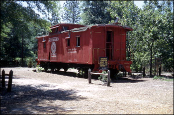 Seaboard Railroad caboose at the Tallahassee Jr. Museum (1972)