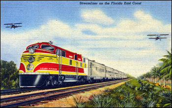 Streamliner on the Florida East Coast (ca. 1945)