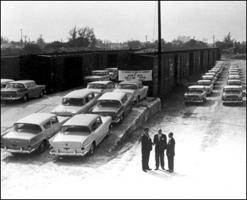 56 Carloads of new 1958 Ramblers (1958)