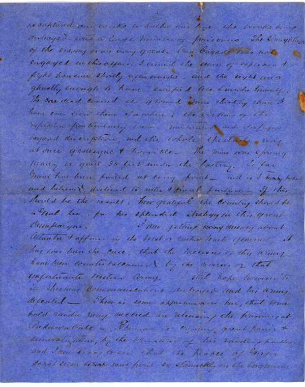 Letter, August 2, 1864, T. W. Brevard, 