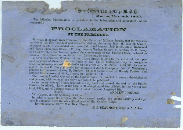Proclamation by President Andrew Johnson