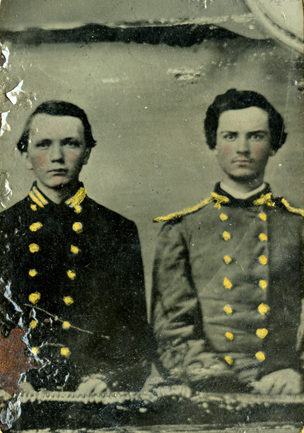 Portrait of Pittman and Johnson in uniform