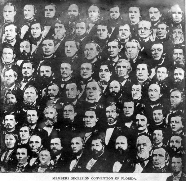 Members of the 1861 Secession convention: Tallahassee, Florida