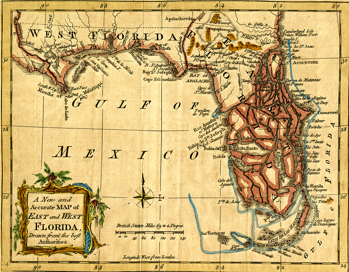 West Florida Map.A New And Accurate Map Of East And West Florida The Florida Memory