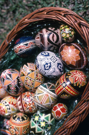 Ukrainian pysanky eggs: White Springs, Florida