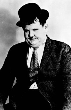 Portrait of actor Oliver Hardy